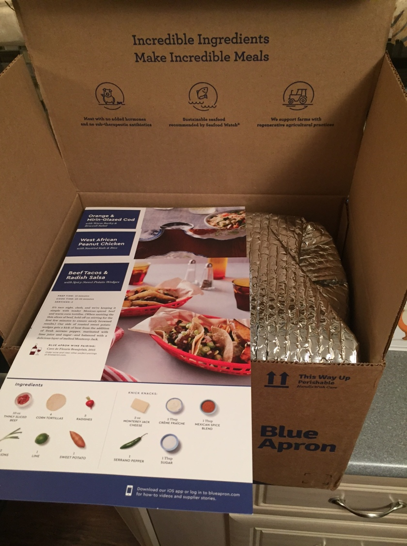 Blue Apron Week One Meal Box