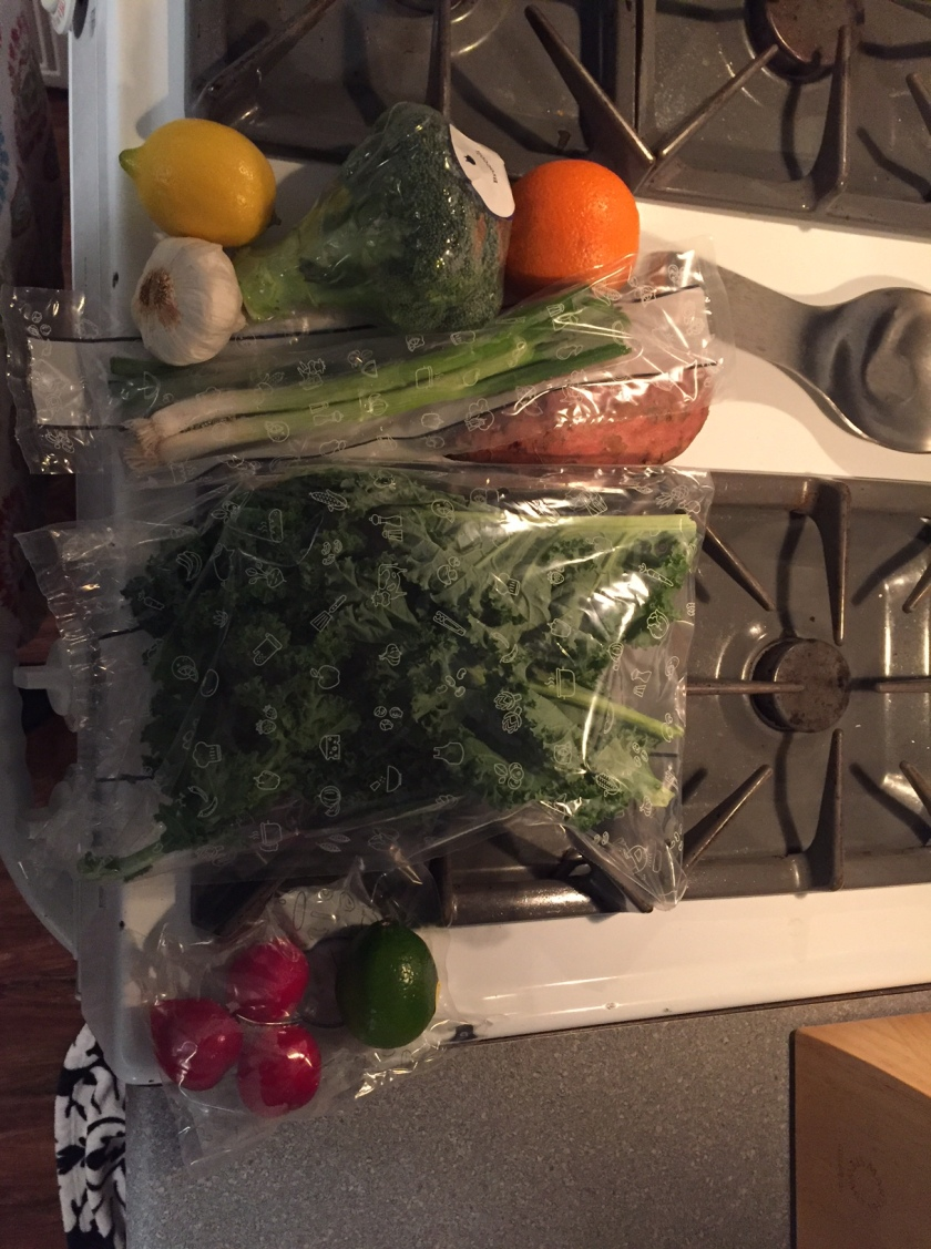Week 1 Blue Apron Box Produce