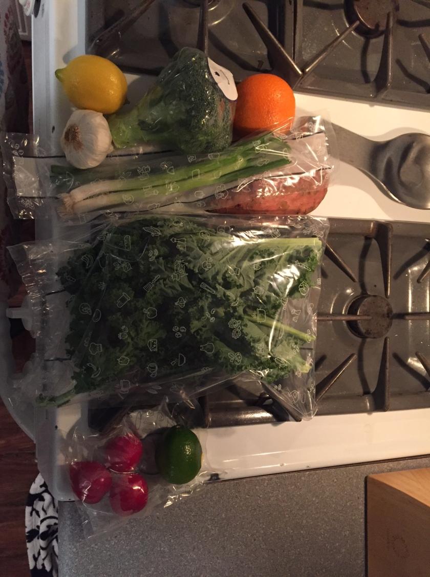 Blue apron next week - Week 1 Blue Apron Box Produce