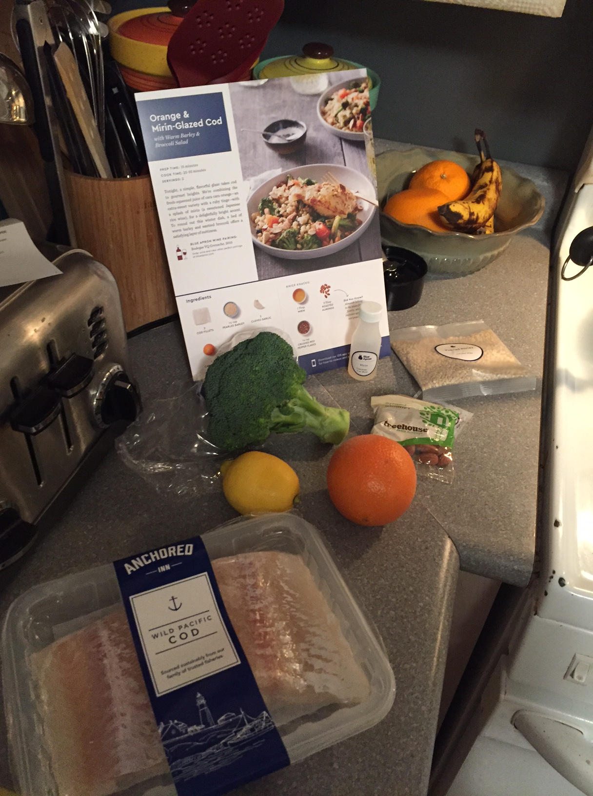 Blue Apron Meal 3 Orange and Mirin-Glazed Cod